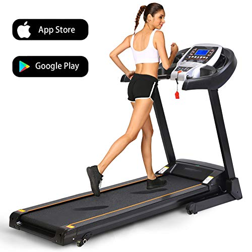 Folding Electric Treadmill Incline Motorized Running Machine Smartphone APP Control for Home Gym Exercise