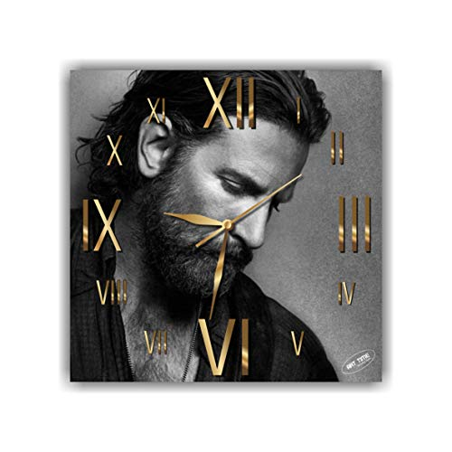 Exclusive Clock Bradley Cooper (A Star is Born) - Unique Item for Home and Office, Original Present for Every Occasion. (Christmas Cooper Bradley)