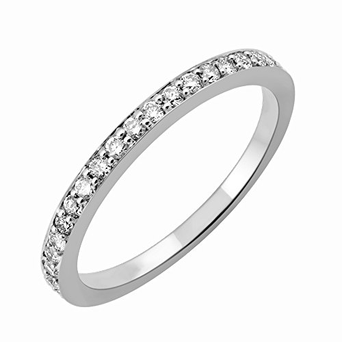 IGI Certified 14k White Gold Wedding Diamond Band Ring (1/4 Carat)