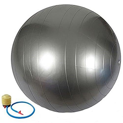QUBABOBO PVC Anti Burst Exercise Fitness Workout Core Stability Balance Swiss Yoga Ball,65CM Gray …