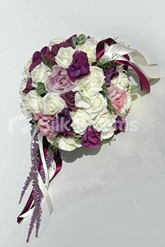 大ピンクアイボリービンテージPomander w / Mixed Roses & Hydrangea B00P69KG8G