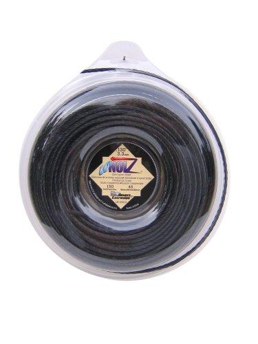 LoNoiz .130-Inch-by-150-Foot Spool Commercial Grade Spiral Twist Quiet 1-Pound Grass Trimmer Line, Black LN130DLG-12 by LoNoiz