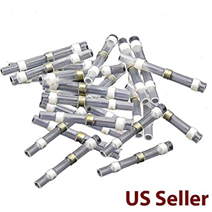 50Pcs 26-24AWG Solder Seal Heat Shrink Electrical Wire Connectors Crimp Terminal