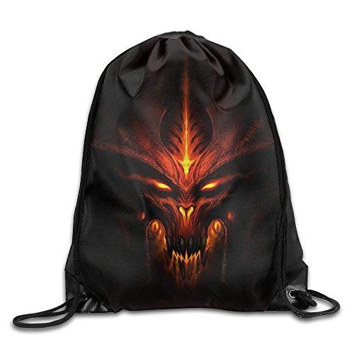 [ARPG Diablo 3 Fathom Studios Drawstring Backpack Sack Bag] (Diablo Reaper Of Souls Costume)