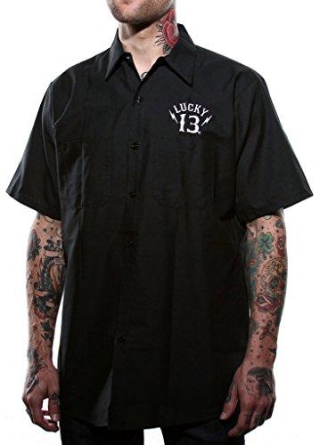 Lucky 13 Men's Black Sin Workshirt 4X Black ()