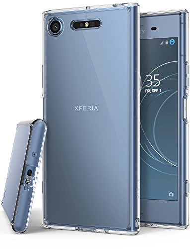 Sony Xperia XZ1 Phone Case Ringke [FUSION] Crystal Clear Minimalist Transparent PC...