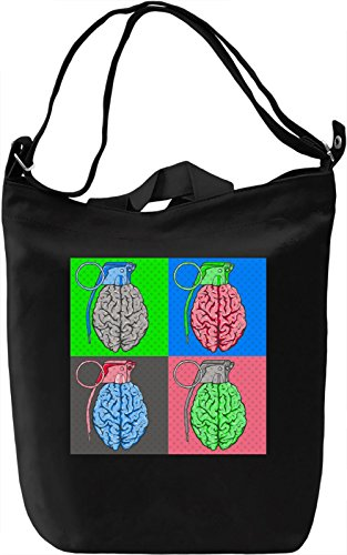 Pop Art Brain Bomb Borsa Giornaliera Canvas Canvas Day Bag| 100% Premium Cotton Canvas| DTG Printing|
