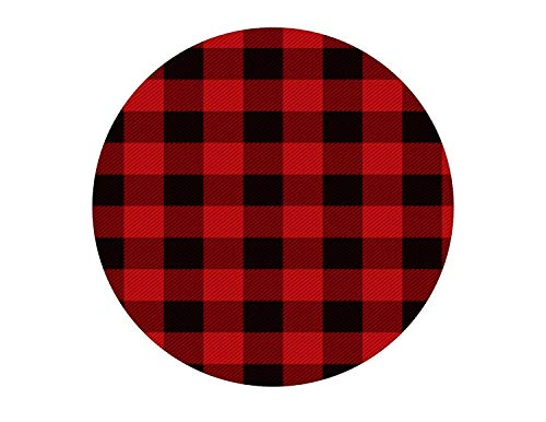 Red And Black Plaid Pattern Edible Cake Topper Image ABPID01481 - 1/2 sheet
