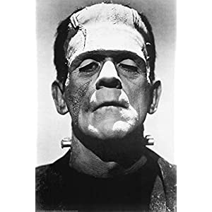 Frankenstein Movie (Boris Karloff, Close-Up) Poster