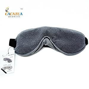 Sleep Mask - Counting Shleep - Best Sleeping Quality - Eye Mask for Night or Travel - Includes Memory Foam, Carry Pouch and Ear Plugs - Sleep Better Now!