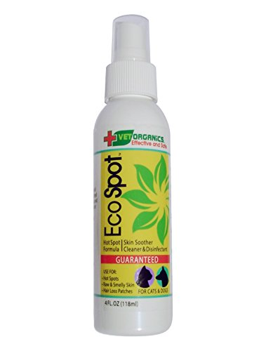 EcoSpot Touchless Hot Spot, Anti-Itch & Wound Spray. Provides immediate relief of Hot Spots on dogs and allows healing to begin. 1-Step: Just spray the hot spot and let dry. All natural formula, Made in the USA. 100% Money Back Guarantee.