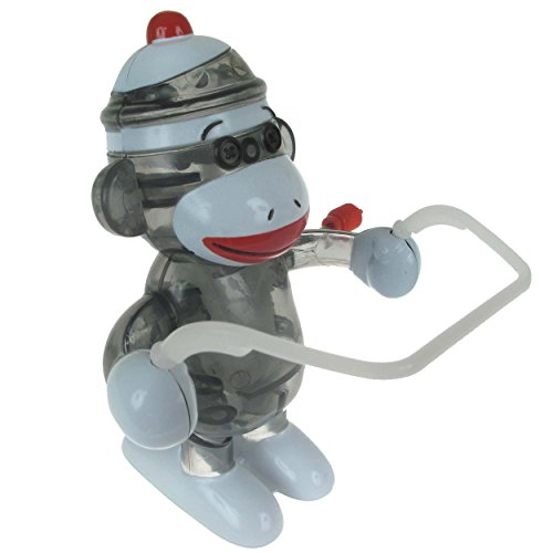 - California Creations Sock Monkey Skippy Windup Toy