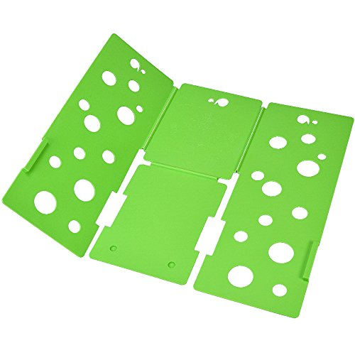 BOXLEGEND V3 shirt folding board t shirts folder easy and fast For kid to fold Clothes folding boards Laundry folders flipfold 4mm. Green
