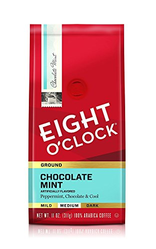 (Eight O'Clock Ground Coffee, Chocolate Mint, 11 Ounce)