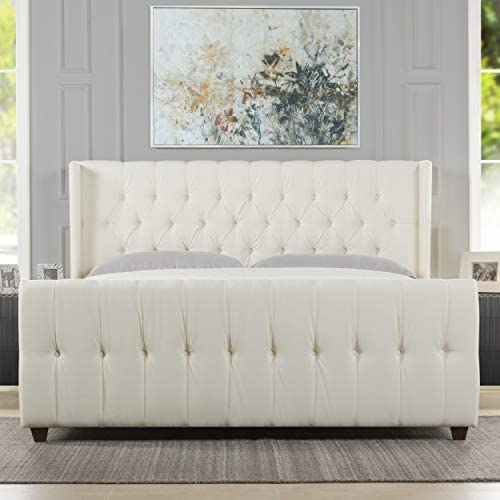 Jennifer Taylor Home David Collection Modern Upholstered King Size Size Bed Frame