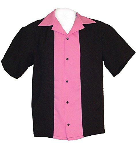 慣性なんでも母音GirlsボーリングシャツホットピンクユースサイズS 8 – 9歳用、M 10 – 11歳用、大12 – 13