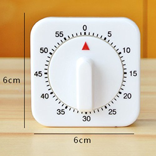 Relay Time - 60 Minutes Timer Count Down Alarm Reminder White Square Mechanical - Horse Japanese Accurite Vintage Timers Adjustable Impaired Wars Analog Alarm Rope Vegetable Hearing Back Fashi