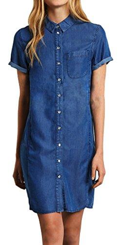 MuKe - Camiseta - trapecio - Sin mangas - para mujer MK135-Blue