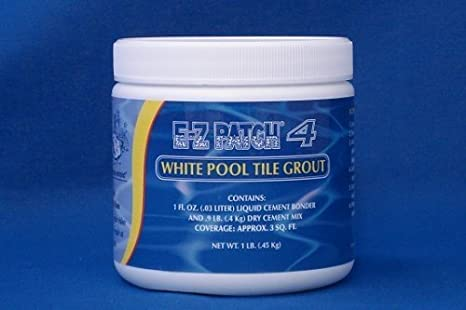 EZ Products EZP-136 1 No. WHITE SANDED POOL TILE GROUT EACH ...