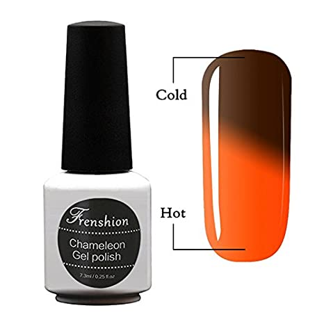 Frenshion 7.3ML Gel Nail Polish Chameleon Thermic Semi Permanent Soak-off UV LED Gel Polish Temperature Color Changing Gel 48
