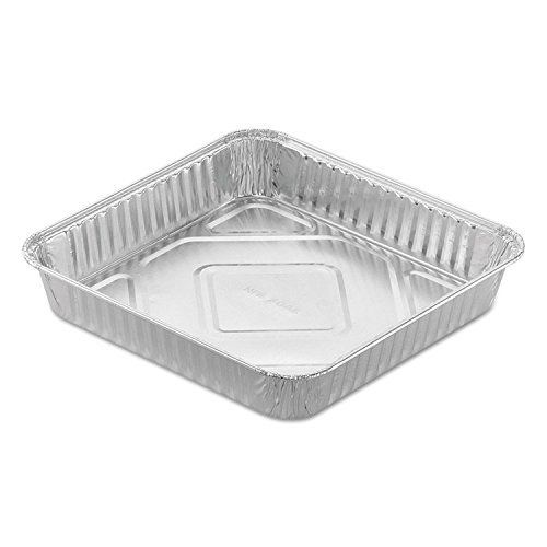 """Sherri Lynne Home 8"""" x 8"""" Baking Pans - Disposable Aluminum Foil Baking Tins, Ideal for Brownie, Standard Size, 30 Pack"""