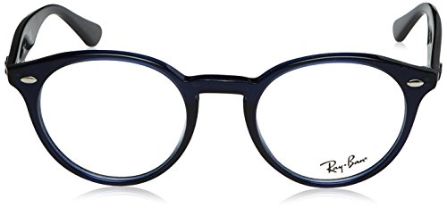 Ray-Ban RX2180V lunettes en noir brillant RX2180V 2000 47 2013: Transparent Blue