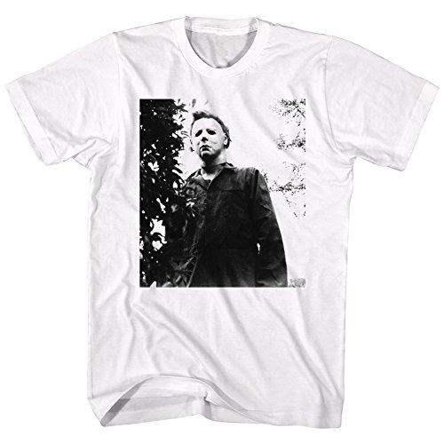 (A&E Designs Halloween T-Shirt Michael Myers Stare White Tee,)
