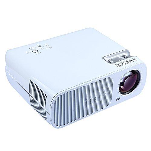Flylinktech HD Proyector LED Portátil Proyector 2600 lúmenes Cine ...
