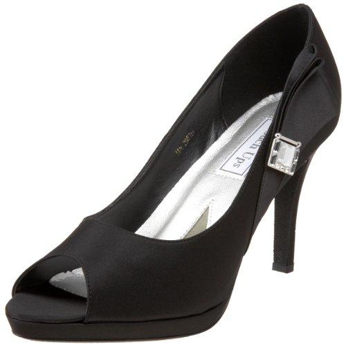 Taille Uk Averil 5 Pour 5 Noir Chaussures Retouches Satin Dames pF0OBBq
