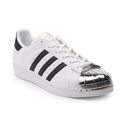 adidas Originals Damen Superstar W Fashion Sneaker Weiße silberne Zehe 6310
