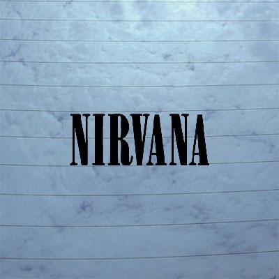 Nirvana Art Laptop Black Bike Car Notebook Sticker Helmet Car Grunge Kurt Cobain Die Cut Window Decoration ()