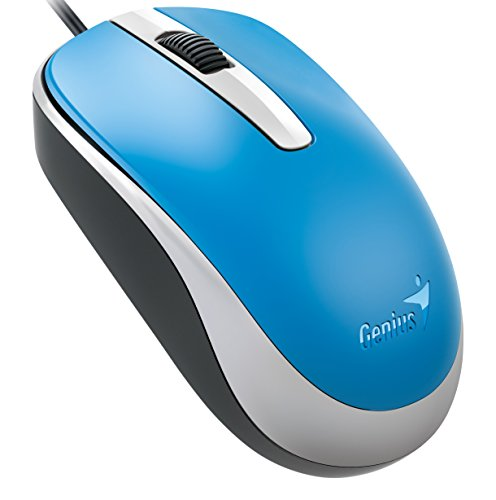 (Genius Classic Wired Optical Mouse, Blue (DX-120blue) )