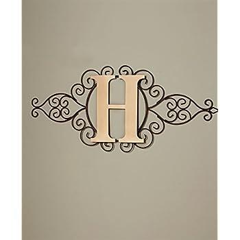 The Lakeside Collection Monogram Metal Wall Art H