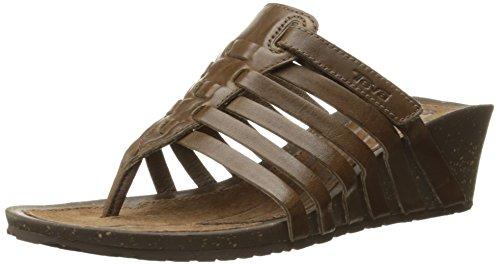Teva Women's Cabrillo 3 Wedge Thong Sandal Dark Earth Bc2XsIZp3