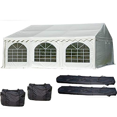 DELTA Canopies 20'x20' PVC Party Tent - Heavy Duty Wedding Canopy Gazebo Carport - with Storage Bags - By