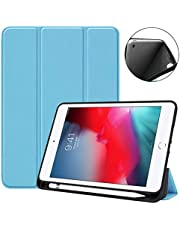Guteck Case Compatible with iPad 7th Gen 10.2 (2019)/ iPad Air 3rd Gen 10.5 (2019)/ iPad Pro 10.5(2017) with Pencil Holder, Slim Light Smart Stand Hard Shell iPad Tablet Cover Case