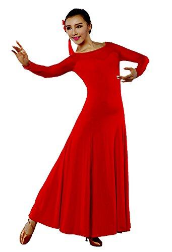 [SFD025 StarDance Women's Ballroom Smooth Tango Swing Country Dance Costume Dress (Waist 26