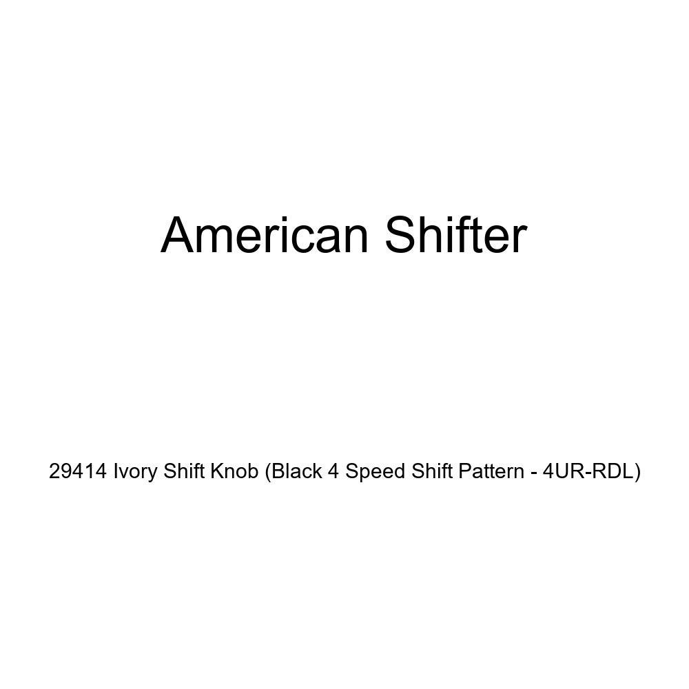 American Shifter 29414 Ivory Shift Knob Black 4 Speed Shift Pattern - 4UR-RDL