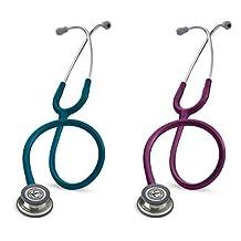 3M Littmann Classic III Stethoscope, Stainless Steel Chestpiece, Caribbean Blue Tube, 27-Inch (5623) & 3M Littmann Classic III Stethoscope, Stainless Steel Chestpiece, Plum Tube, 27-Inch (5831)