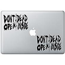 Walking Dead Dont Open Dead Inside FlashDecals1201 Set Of Two (2x) , Decal , Sticker , Laptop , Ipad , Car , Truck
