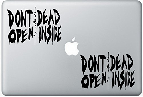 Price comparison product image Walking Dead Dont Open Dead Inside FlashDecals1201 Set Of Two (2x) , Decal , Sticker , Laptop , Ipad , Car , Truck