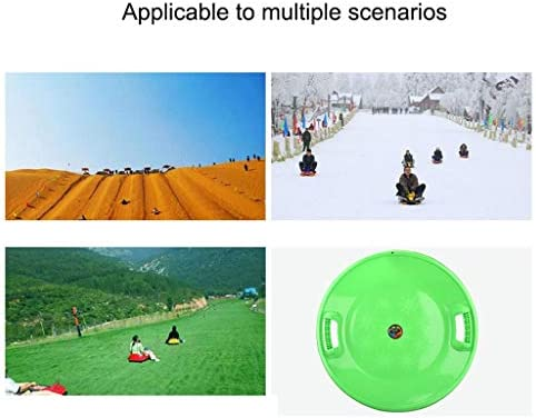 Outdoor Snow Sled Winter Toboggan Snow Sled Grass Sand Slider Pad Skiing Pad Sled Sledge Ski Board for Kids and Adult Ski Board (Color : Pink)