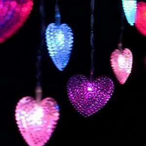 Leedfsw 4m 20-LED heart shape lamp Marriage Room Decoration Decorative Accessories