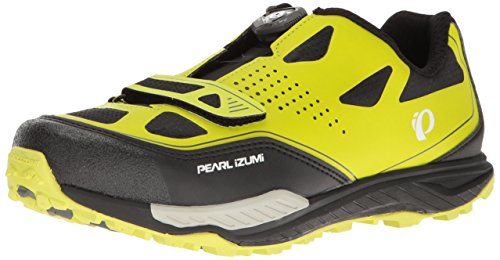 Pearl Izumi Men's X-ALP Launch II Cycling Shoe, Lime Punch/Black, 43.5 EU/9.6 D US