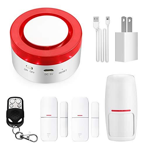 Hacevida Smart Home Alarm Systems Wireless, Smart Home Burglar System Wireless TUYA App Burglar Alarm, Wireless Door Alarm Smart Alert Compatible with Alexa and Google Home
