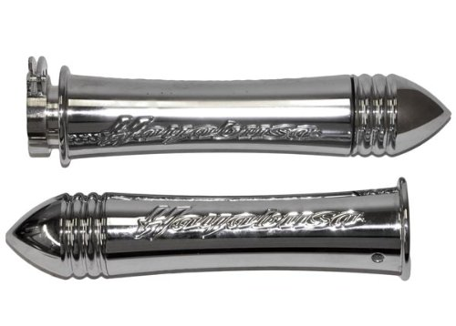 Yana Shiki CA3007 Triple Chromed Curved-In Grips with Pointed Ends for Suzuki GSX 1300R//Hayabusa
