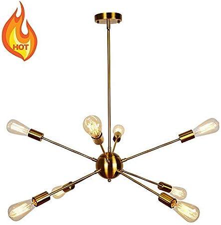 Kostomo Geometric Chandelier Light Fixture Modern Home Depot Gold Sputnik Chandelier Lamp Mid Century Modern Ceiling Light Fixtures Hanging Rustic