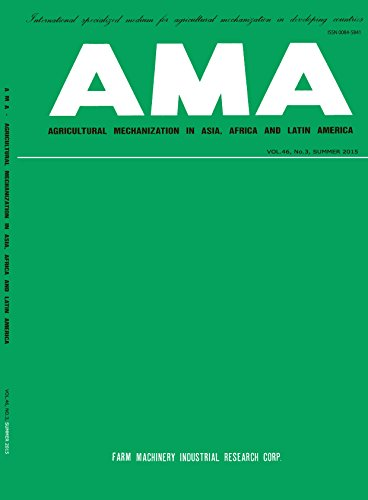AMA Vol.46 No.3: AGRICULTURAL MECHANIZATION IN ASIA, AFRICA AND LATIN AMERICA