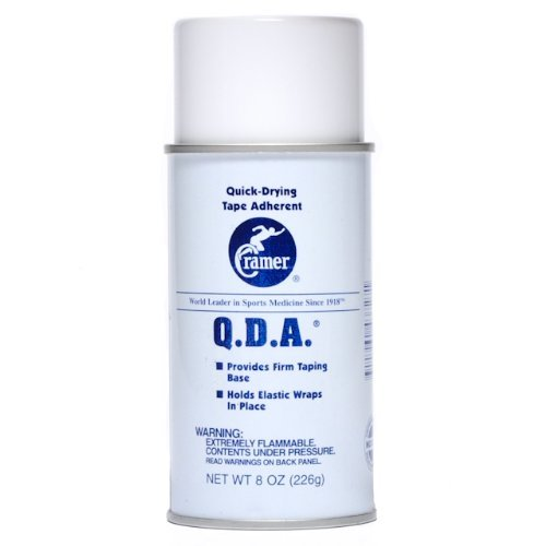 Cramer Q.D.A. Taping Base Spray for Athletic Tape, Wrapping, 8 Ounce