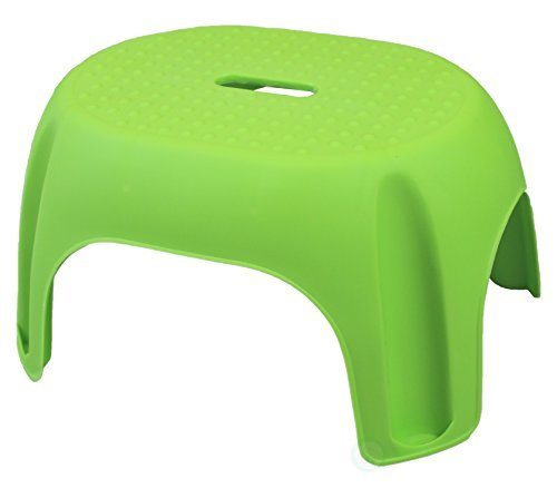 Green Plastic Step Stool by Basicwise